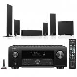 Denon AVC-X4700H 9.2ch 8K AV Amplifier with KEF T205 5.1 Home Theatre Speaker Package