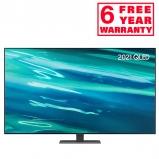 Samsung QE55Q80AA 2021 55 inch Q80A QLED 4K HDR Smart TV front