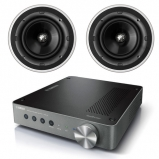 Yamaha WXA-50 Wireless Streaming Amplifier with 2 x KEF Ci200QR In-Ceiling 2-way Speaker