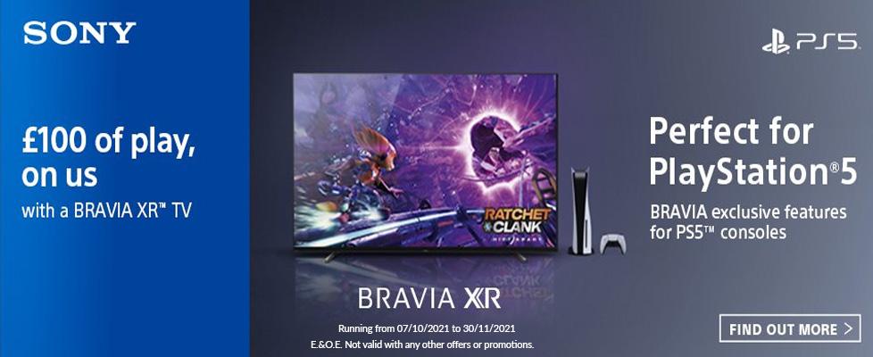 Sony Bravia XR playstation £100