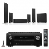Denon AVC-X3700H 9.2ch 8K AV Amplifier with KEF T205 5.1 Home Theatre Speaker Package