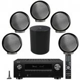 Denon AVC-X3700H 9.2ch 8K AV Amplifier, Elipson 5 x Planet M Bookshelf Speakers with Planet Sub
