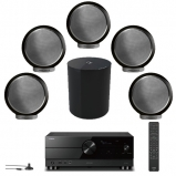 Yamaha RX-A2A 7.2 Ch Aventage Receiver, Elipson 5 x Planet M Bookshelf Speakers with Planet Sub