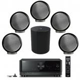 Yamaha RX-V6A 7.2 Ch AV Receiver, Elipson 5 x Planet M Bookshelf Speakers with Planet Sub