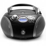 Roberts Radio Zoombox 3 DAB/DAB+/FM Digital Radio with CD, USB and SD Player Options - Black