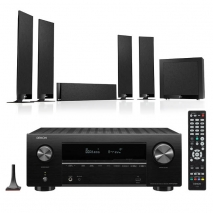 Denon AVRX2700H 7.2 Ch 8K AV Receiver with Kef T305 5.1 Home Theatre Speaker System