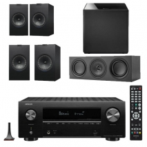 Denon AVRX2700H 7.2 Ch 8K AV Receiver with Kef Q350 Speaker Pack