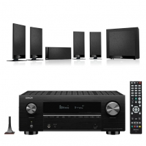 Denon AVC-X3700H 9.2ch 8K AV Amplifier with KEF T105 5.1 Home Theatre Speaker Package