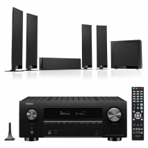 Denon AVC-X3700H 9.2ch 8K AV Amplifier with KEF T305 5.1 Home Theatre Speaker Package