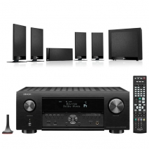 Denon AVC-X4700H 9.2ch 8K AV Amplifier with KEF T105 5.1 Home Theatre Speaker Package