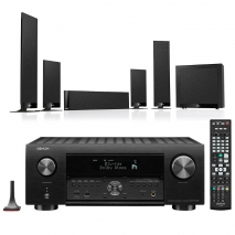 Denon AVC-X4700H 9.2ch 8K AV Amplifier with KEF T205 5.1 Home Theatre Speaker Package