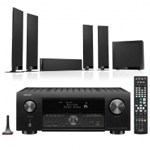 Denon AVC-X4700H 9.2ch 8K AV Amplifier with KEF T305 5.1 Home Theatre Speaker Package
