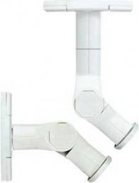 Sanus WMS3 Tilt and Swivel Mounts in White (Pair) for Speakers mount on Wall or Ceiling