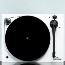 Pro-Ject Essential III RecordMaster Turntable with USB Phono Stage in White front