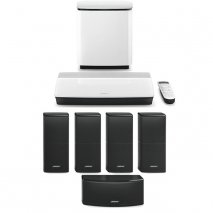 Bose Lifestyle 600 System - White Bass White Console with Black Speakers package