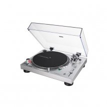 Audio Technica AT-LP120X Manual Direct-Drive Turntable with Analogue & USB - Silver angle