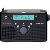 Roberts SolarDAB 2 DAB digital solar radio in Black