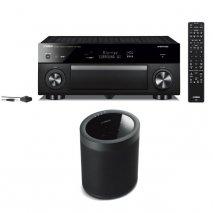 Yamaha RXA1080 7.2 Ch AV Receiver with MusicCast 20 Wireless Speaker - Black
