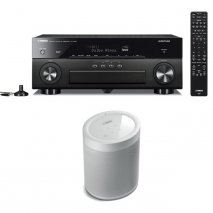 Yamaha RXA880 7.2 Ch AV Receiver with MusicCast 20 Wireless Speaker - White