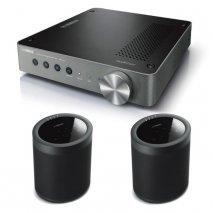 Yamaha WXA-50 Wireless Amplifier with 2x MusicCast 20 Wireless Speakers - Black