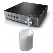Yamaha WXA-50 Wireless Amplifier with MusicCast 20 Wireless Speaker - White