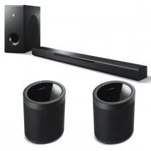 Yamaha MusicCast Bar 400 Soundbar, Sub + 2x MusicCast 20 Wireless Speakers - Blk