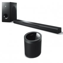 Yamaha MusicCast Bar 400 Soundbar, Sub + MusicCast 20 Wireless Speaker - Blk
