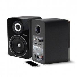 Elipson Prestige Facet 6B BT Wireless Bookshelf Speakers in Black angle