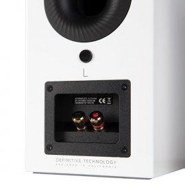 Definitive Technology D7 High Performance Bookshelf Speakers in White back