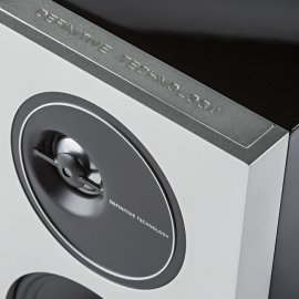 Definitive Technology D7 High Performance Bookshelf Speakers in Black corner