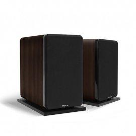 Elipson Prestige Facet 8B Bookshelf Speakers in Black/Walnut grille