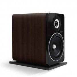 Elipson Prestige Facet 8B Bookshelf Speakers in Black/Walnut single