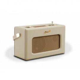 Roberts RD70PC DAB+/DAB/FM Revival Radio with Bluetooth - Pastel Cream angle