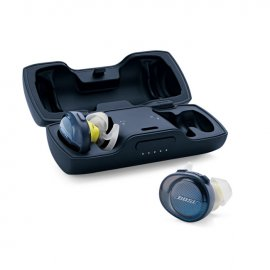 Bose SoundSport Free Wireless In-Ear Headphones in Midnight Blue case