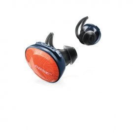 Bose SoundSport Free Wireless In-Ear Headphones in Bright Orange angle