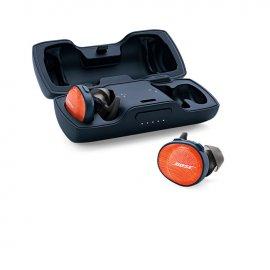 Bose SoundSport Free Wireless In-Ear Headphones in Bright Orange case